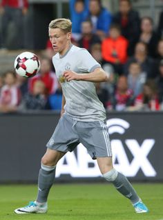 Scott McTominay of Manchester United in action during the preseason friendly match between Valerenga and Manchester United at Ullevaal Stadion on. Man Utd Fc, Brandon Williams, Manchester United Players, Nike Football, Old Trafford, Fa Cup, Man United, Man Alive, Mens Fitness