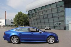 AUDI's newest high-performance vehicle combines the power of a sportscar with the elegance of a coupé. we took a test drive of the AUDI sportback. Audi Rs7 Sportback, Dream Garage, Driving Test, Motor Car, Motors, Planes, Boats, Germany, Future