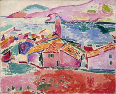 """Henri Matisse, """"Les toits de Collioure,"""" 1905. Oil on canvas. 
