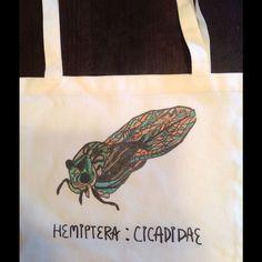 Hand Designed Cicada Bug Bag