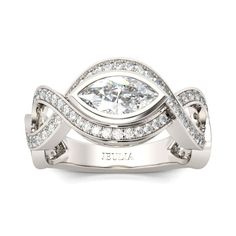 East West Setting Marquise Cut Sterling Silver Ring