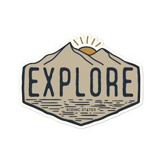 college Explore Sticker – Scenic States Wedding Invitations Without Breaking the Budget Article Body Bubble Stickers, Phone Stickers, Cool Stickers, British History, Art History, History Quotes, Design History, European History, History Facts