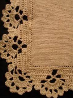 Resultado de imagen para orillas de servilletas tejidas a gancho