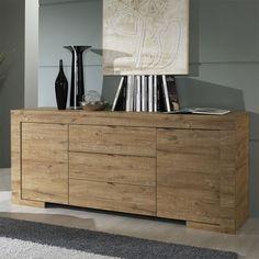 Aménagez votre salle à manger avec le bahut moderne coloris bois HIBISCUS, vous serez séduit de ses finitions exceptionnelles !