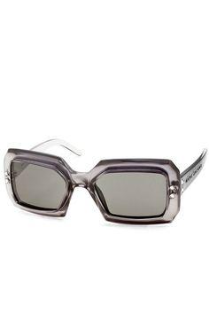 3eecfbc96c0 Marc Jacobs Women s Plum Silver Plastic Sunglasses