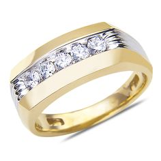 Ebay NissoniJewelry presents - Men's 1/4CT Diamond Wedding Band 10k Yellow Gold with Closed Back    Model Number:GRV3707E-Y077    http://www.ebay.com/itm/Men-s-1-4CT-Diamond-Wedding-Band-10k-Yellow-Gold-with-Closed-Back/321612151634