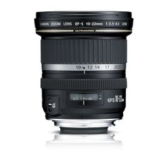 This exciting zoom lens provides ultra wide-angle coverage to the EOS 20D, 30D, 40D, 50Dand Digital Rebel shooter. Equivalent to a 16-35mm zoom, it offers excellent performance and optics designed from the ground-up for digital SLR use. Three Aspherical lens elements, plus a Super-UD element, assure image quality. Its ring-type USM means fast and silent AF along with full-time manual focus.