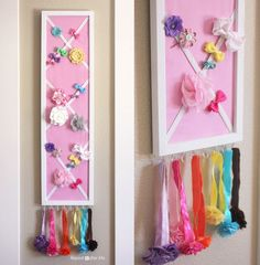 Use a double-duty storage board to organize all your kids' hair accessories.