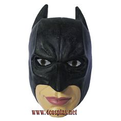 Moive Charater Replica Black Batman Resin Mask Halloween Costume Prop Collectior