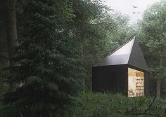 tomek michalski designs a contemplative cabin in the forest