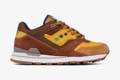 """Feature x Saucony are back in the kitchen together, this time for a """"Belgian Waffle"""" Courageous. Peep the sneaker right here."""