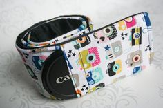 Camera Strap Cover Padded Camera Strap Lens Cap by PaisleyMaizie