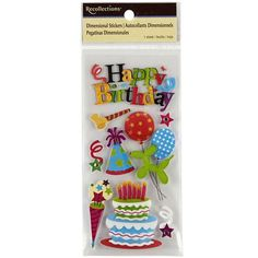 Recollections™ Dimensional Stickers, Bright Birthday