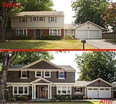 Exterior home renovation - pinning it to show an amazing and drastic example of what a few changes can do.
