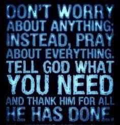 Don't worry & pray