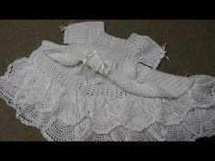 Vestido para Niña Crochet Lluvia de Abanicos parte 1 de 2