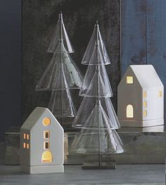 looking for Scandinavian Modern Glass Christmas Trees Set of 2? shop on sale for $129 - discover now.