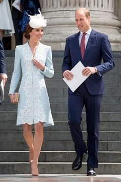 Kate Middleton - The Duchess of Cambridge - in a Catherine Walker coat dress.