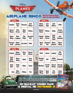 Disney Planes - bingo to play while waiting in airport Disney Crafts, Disney Fun, Disney Theme, Disney Stuff, Kid Crafts, Travel Activities, Travel Themes, Toddler Activities, Travel Ideas