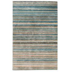 Stripe Rug - Wool Jute Bamboo - 130x190cm - Nautical: Amazon.co.uk: Kitchen & Home