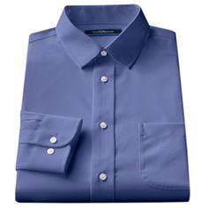 Croft and Barrow Classic-Fit Spread-Collar No Iron Dress Shirt - Men