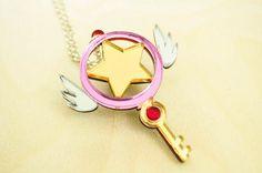 Cardcaptor Sakura Star Key Necklace by TrinketSlotCom on Etsy, $18.00