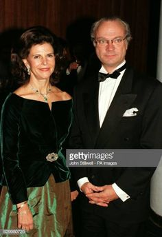 Queen Silvia Of Sweden 1997 Pictures and Photos Sweden News, Queen Of Sweden, Festival Hall, Swedish Royalty, Princess Victoria Of Sweden, Queen Silvia, 50th Wedding Anniversary, Haute Couture Fashion, Glamour