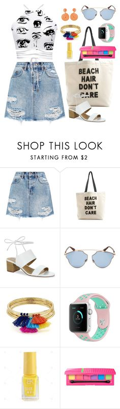 """""""Summer Beach casual suit"""" by rubylee-ii on Polyvore featuring Ksubi, Fallon & Royce, Tahari, Christian Dior, Aqua and Moschino"""