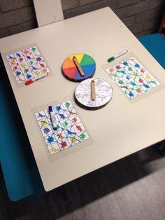 Spelletje: soort van bingo-twister Kan je gebruiken bij verschillende thema's, enkel de figuurtjes aanpassen