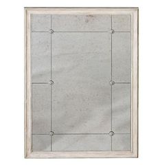 Lillian Classic French Rectangle Antique Mirror Ivory Mirror
