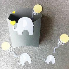 """Boite à dragées- baptême - thème """"éléphant- ballon"""""""