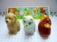 Kinder surprise toys vintage miniature Animal by CuteVintageRu