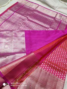 Venkatagiri  pattu  10500 Gadwal Sarees Silk, Silk Saree Kanchipuram, Wedding Silk Saree, Bridal Sarees, Saree Dress, Saree Blouse, Hand Work Blouse Design, Blue Saree, Soft Silk Sarees
