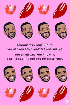 Drake, Valentine Day Cards And Drake Lyrics