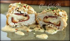 This slow cooker Chicken Cordon Bleu looks A-M-A-ZinG! Pictures are provided each step of the way for a fool proof, easy to follow, recipe