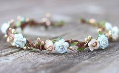 Spring Flower Crown  Earthy Wedding Crown  Wedding Hair