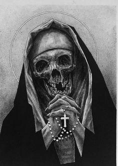 Art by Jon Self - JonSelf - illustration - illustrator - drawing - darkart - horror - creature - monster - Skeleton - skull Arte Horror, Horror Art, La Santa Muerte Tattoo, Evil Skull Tattoo, Scary Drawings, Satanic Art, Evil Art, Psy Art, Skull Art