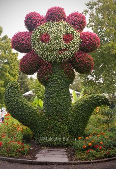 Flower topiary at Mainau Gardens, Lake Constance, Baden-Wurtemberg, Germany