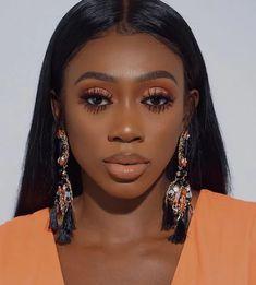 Makeup For Black Skin, Black Girl Makeup, Girls Makeup, Fall Makeup For Black Women, Black Brows, Green Makeup, Dark Makeup, Make Marron, Makeup Trends