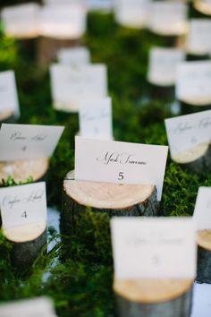 wood escort card holder ideas