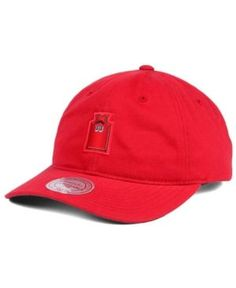 Mitchell & Ness Alonzo Mourning Miami Heat Deez Jersey Dad Cap  - Red Adjustable