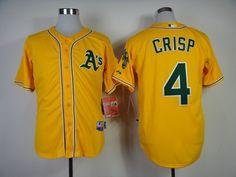 MLB Oakland Athletics #4 Coco Crisp Jersey