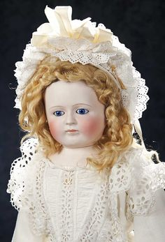 Theriault's. Very rare and splendid French bisque poupee by Leontine Rohmer. This is an unusual larger size, and only two other models are known to exist. Circa 1860. Upcoming at Theriault's Stein am Rhein auction on March 29th and 30th, 2014 in Naples Florida. For more info please visit: www.theriaults.com/