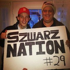 """Gotta love these Coyotes fans, proudly supporting Jordan """"Szwarz Nation."""""""