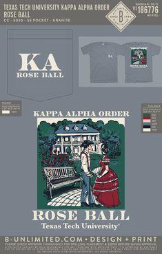 Kappa Alpha Order Rose Ball Shirt | Fraternity Event | Greek Event #kappaalphaorder #kappaalpha #theorder #roseball Kappa Alpha Order, Texas Tech University, Social Events, Fraternity, Greek, Rose, Shirt, Prints, Pink