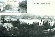 Telemark fylke Kragerø kommune  Skåtøy P. Nilsen Gartnerier Skaatø. Todelt kort Utg A/S Stavangr. forenede Fotografer. Brukt 1908.