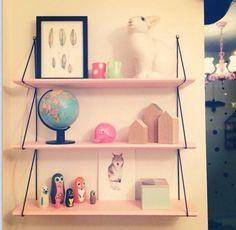 Pink shelves full of goodness. E Room, Room Decor Bedroom, Kids Bedroom, Room Kids, Girls Canopy, Pink Shelves, Guest Room Office, Big Girl Rooms, Kid Spaces