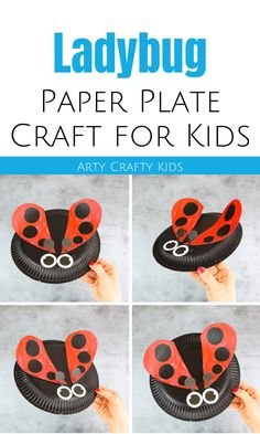Easy paper plate Ladybug Craft for kids to make this Spring. Paper Plate Art, Paper Plate Crafts For Kids, Spring Crafts For Kids, Crafts For Kids To Make, Summer Kids, Paper Plates, Kids Crafts, Diy Mother's Day Crafts, Easy Arts And Crafts