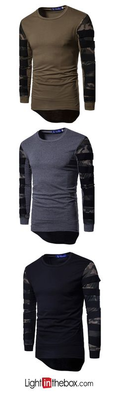 b5c27eb6b8e Men's Sports Casual/Daily Simple T-shirt Mens Sleeve, Cool Outfits For Men