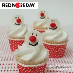 Red Nose Day, Red Nose Day Cupcakes @rednoseday